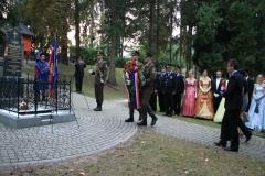 Polaganje vineca na grob Antuna Mihanovića