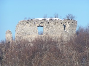 Cesargrad zimi, glavna kula