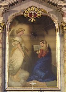 Navještenje BDM, slika na glavnom oltaru