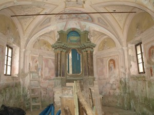 Kapela sv. Florijana - unutrašnjost danas