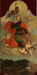 Slika sv. Florijana s goručim Klanjce iz 1837.