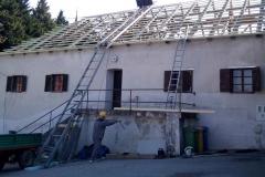 Krovište na vatrogasnom domu u Klanjcu